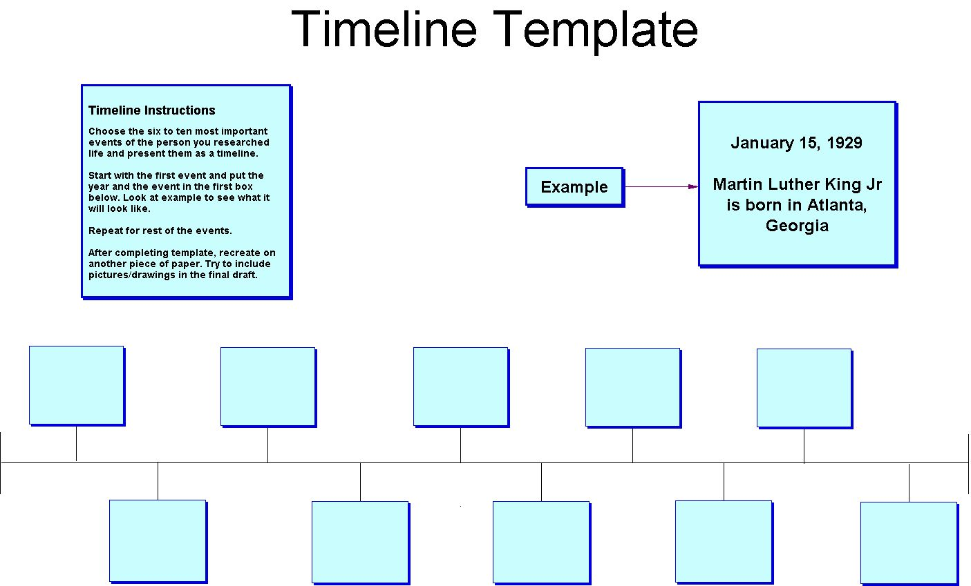 Simple Art Timeline : Blank timeline template